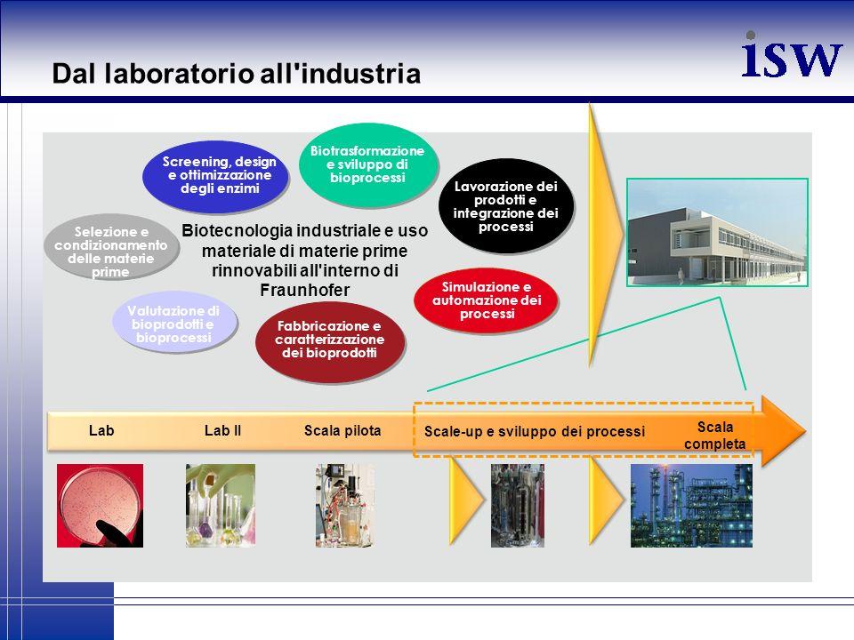 Dal laboratorio all industria
