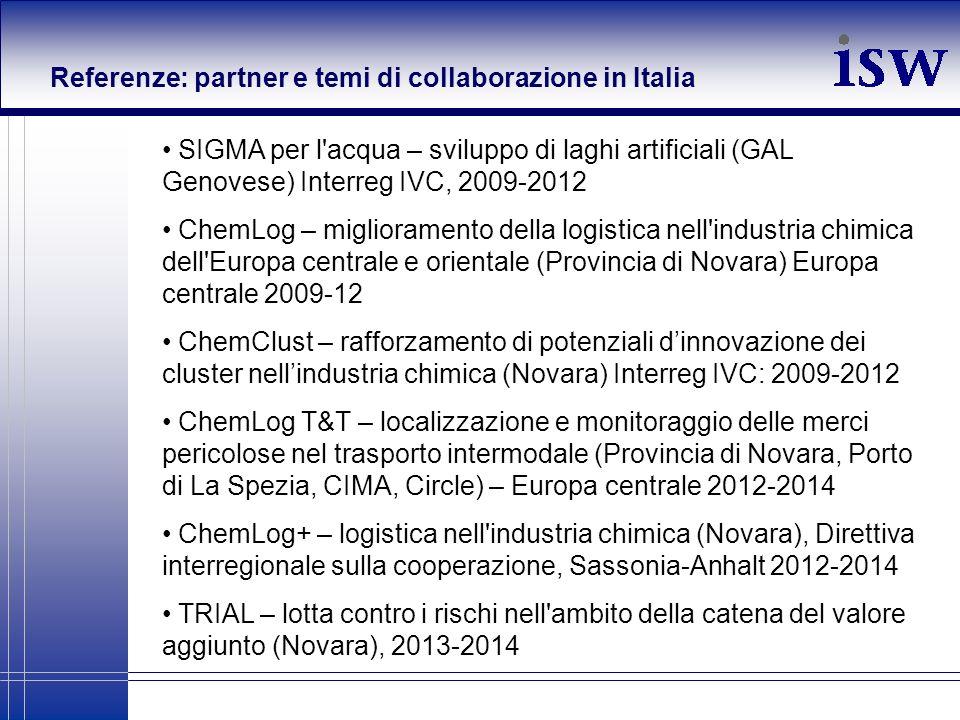 Referenze: partner e temi di collaborazione in Italia