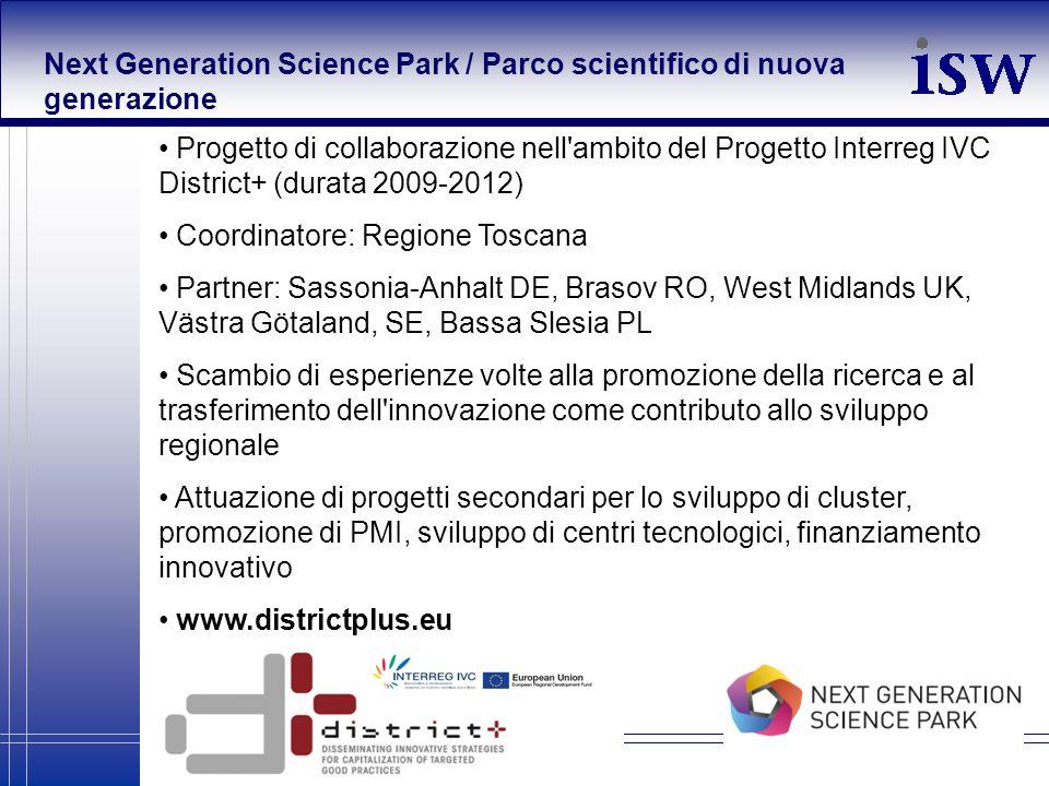 Next Generation Science Park / Parco scientifico di nuova generazione
