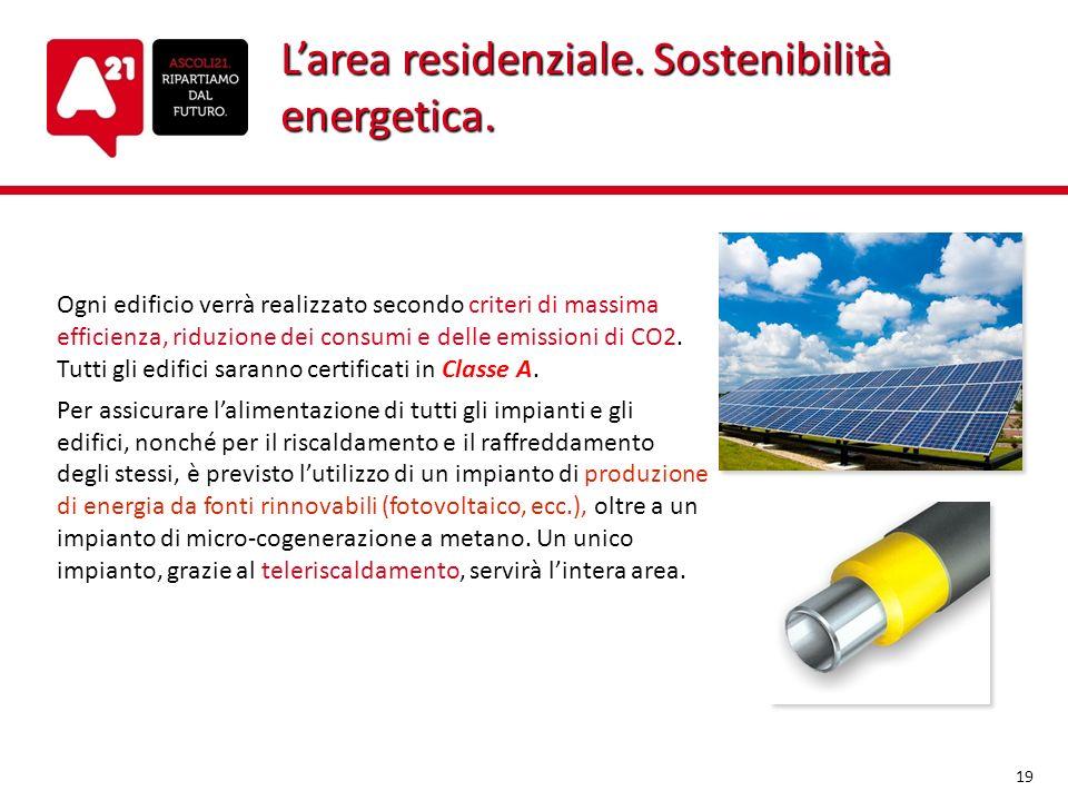L'area residenziale. Sostenibilità energetica.