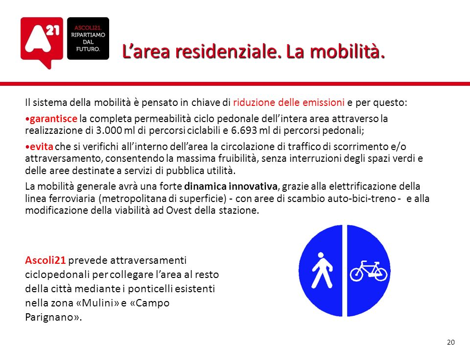 L'area residenziale. La mobilità.