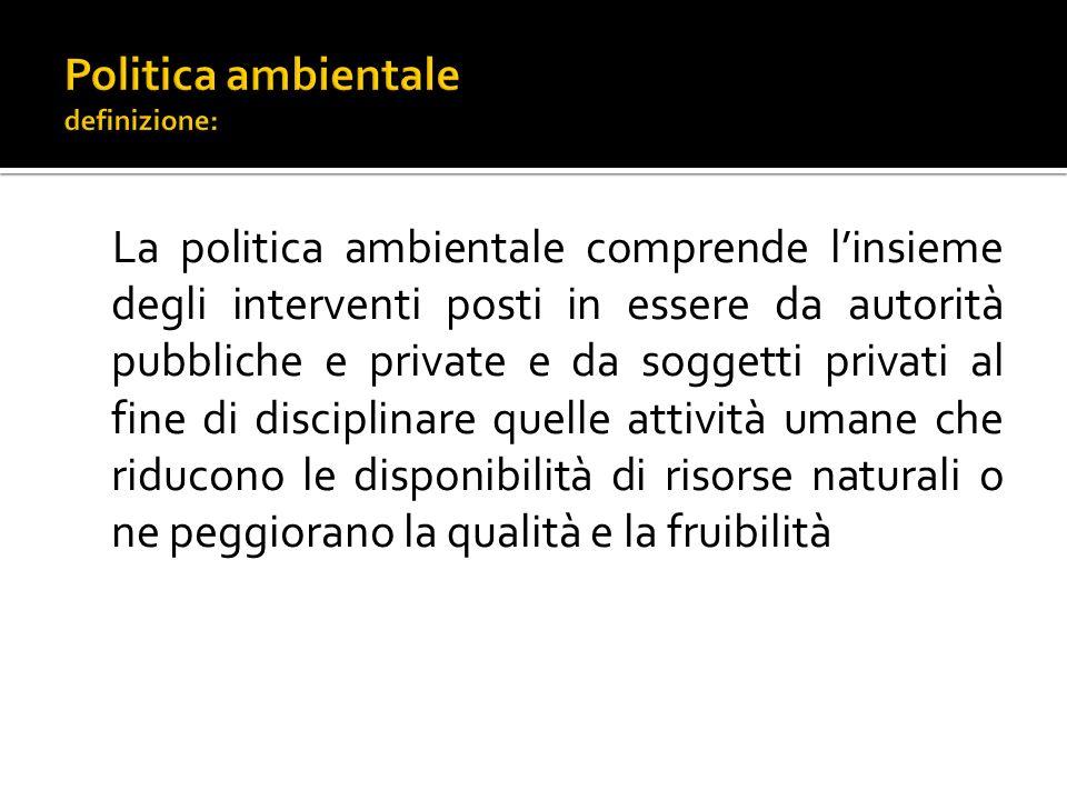Politica ambientale definizione:
