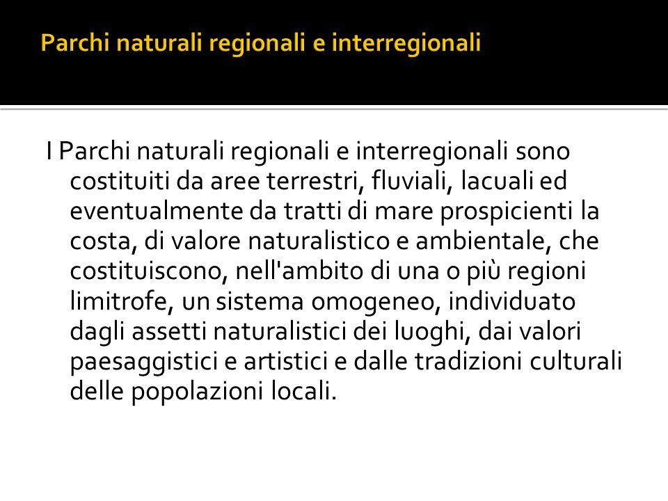 Parchi naturali regionali e interregionali