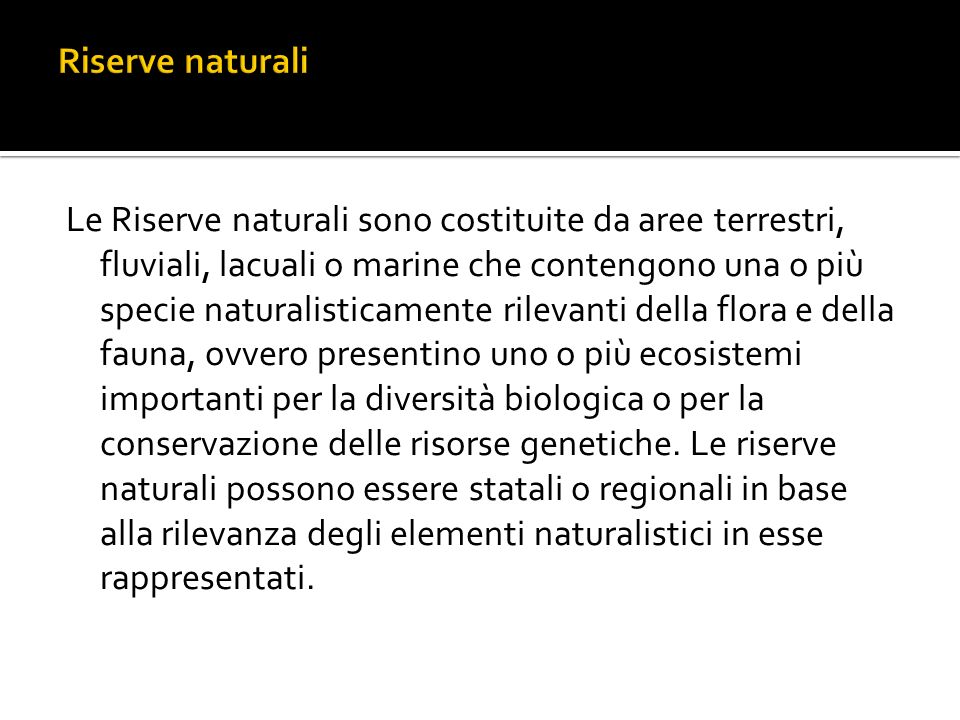 Riserve naturali