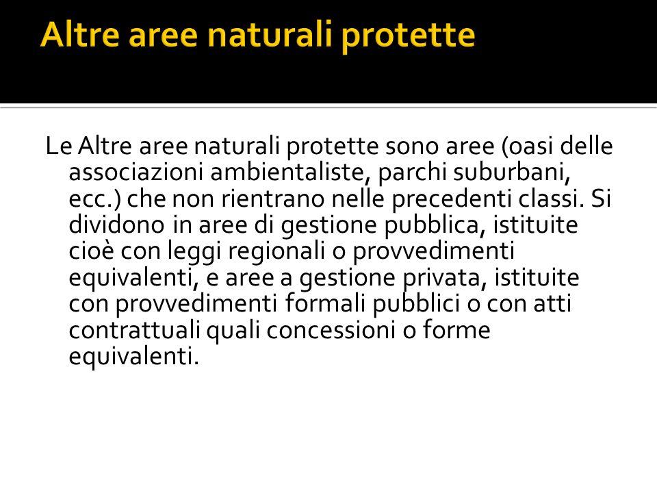 Altre aree naturali protette
