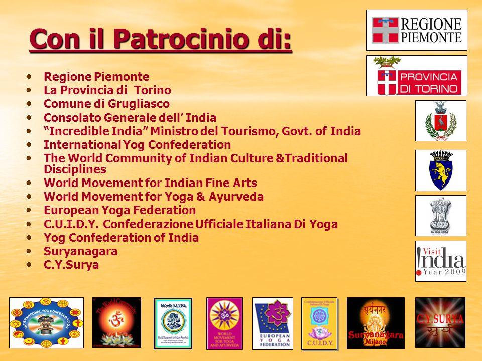 Con il Patrocinio di: Regione Piemonte La Provincia di Torino
