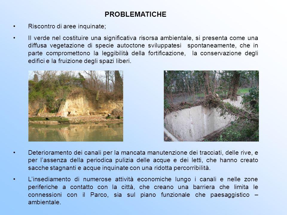 PROBLEMATICHE Riscontro di aree inquinate;