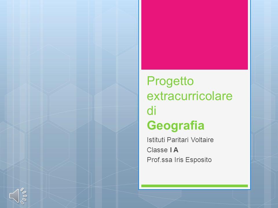 Progetto extracurricolare di Geografia
