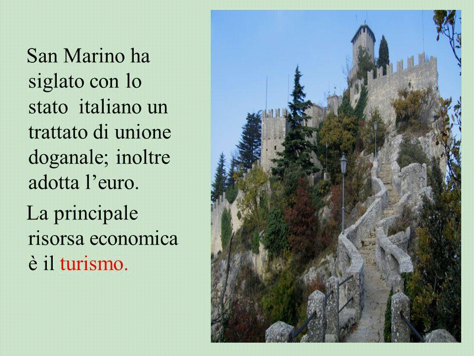 San Marino ha siglato con lo stato italiano un trattato di unione doganale; inoltre adotta l'euro.