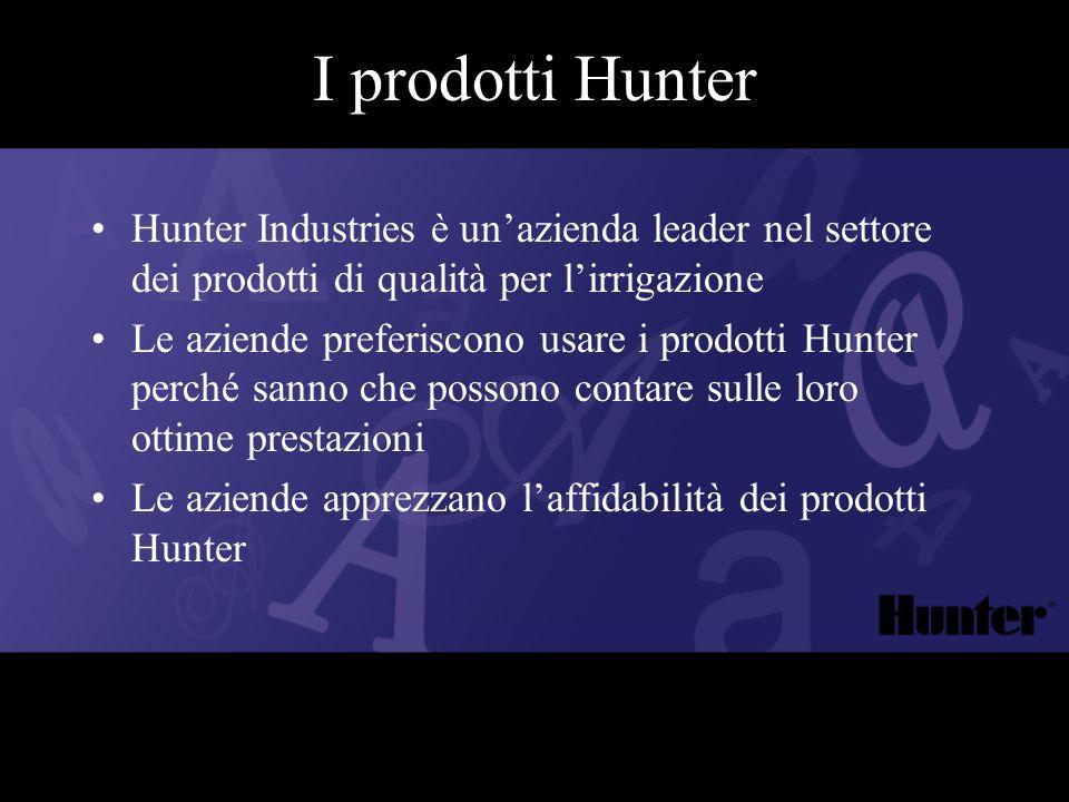 I prodotti Hunter Hunter Industries è un'azienda leader nel settore dei prodotti di qualità per l'irrigazione.