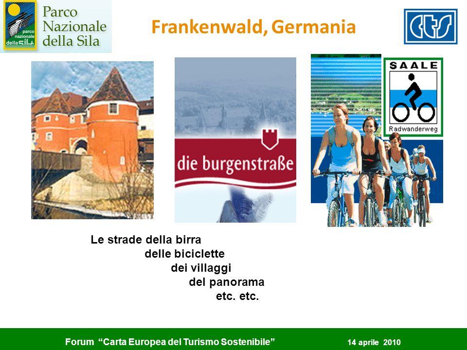 Frankenwald, Germania Le strade della birra delle biciclette
