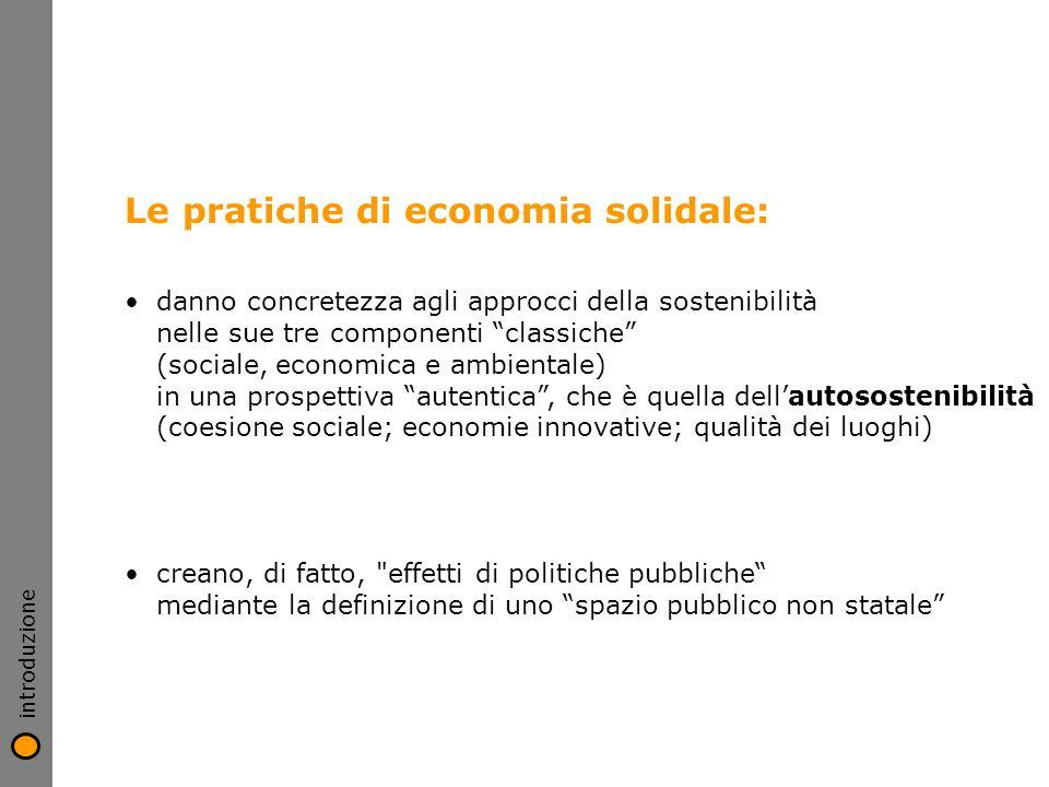 Le pratiche di economia solidale: