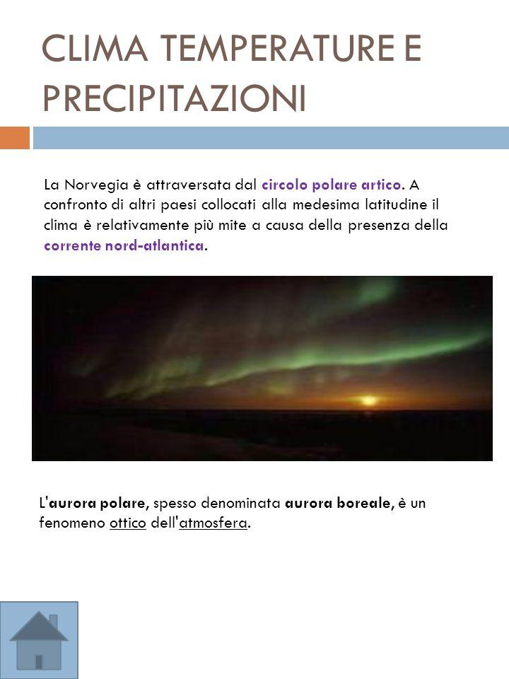CLIMA TEMPERATURE E PRECIPITAZIONI