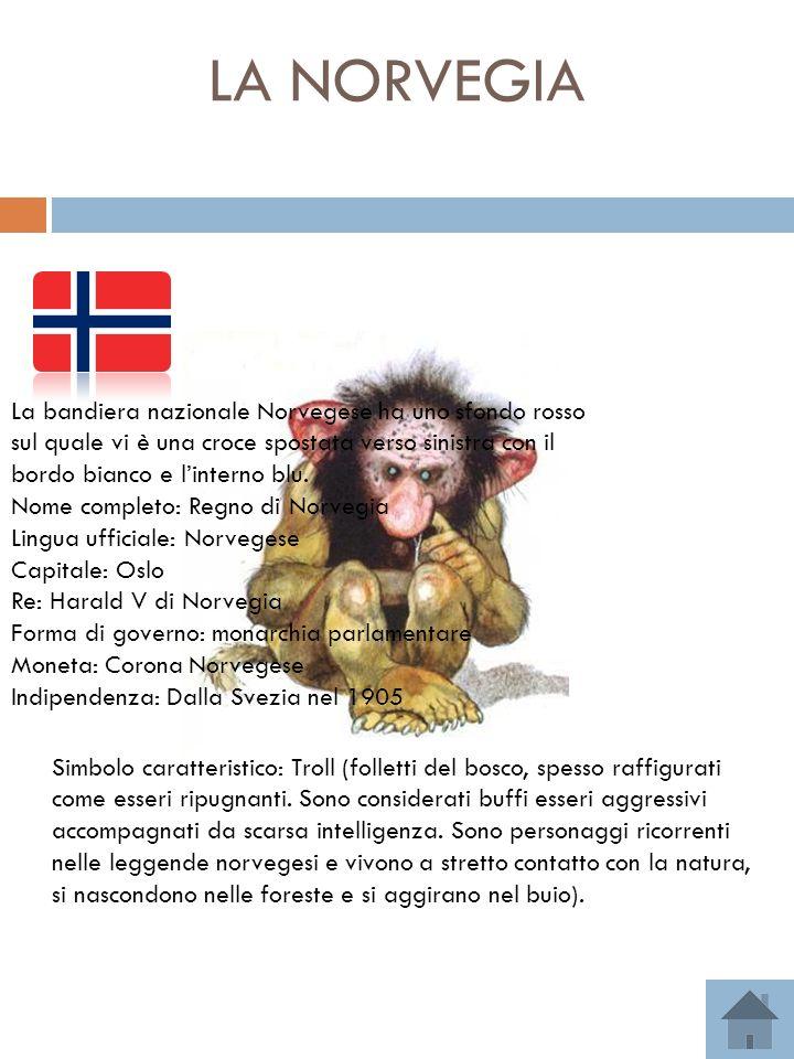 LA NORVEGIA = Bandiera nazionale