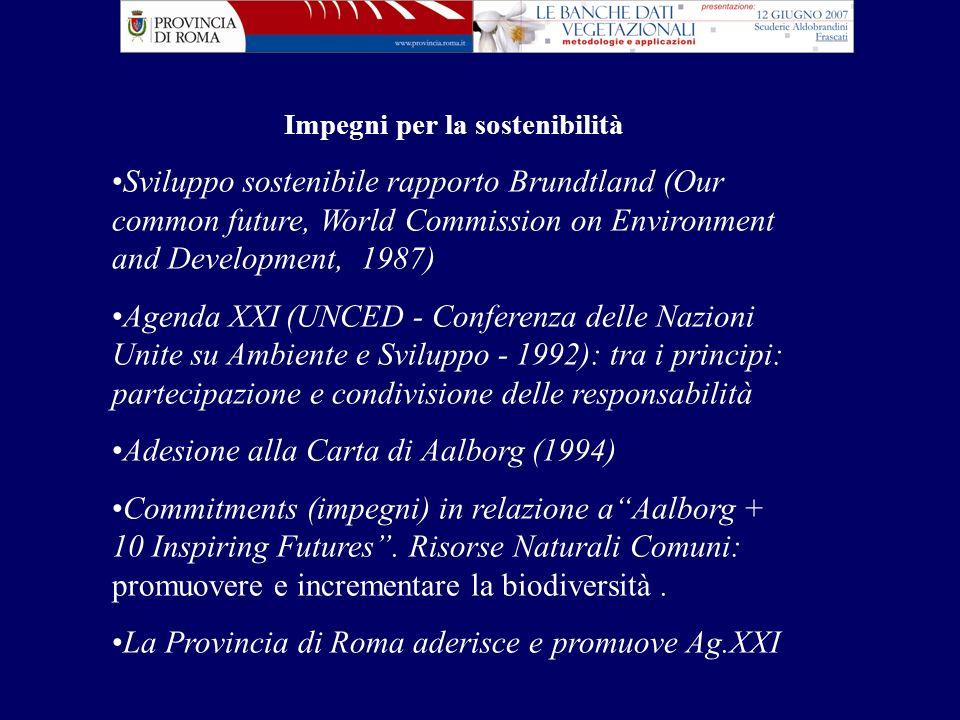 Impegni per la sostenibilità