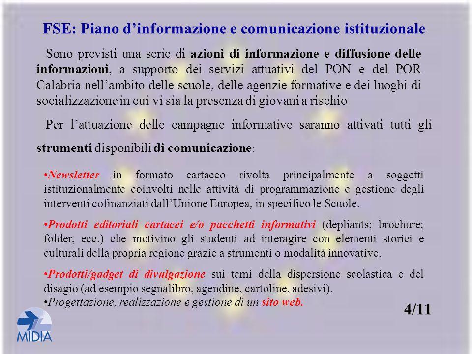 FSE: Piano d'informazione e comunicazione istituzionale