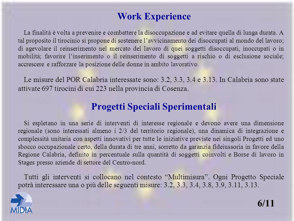 Progetti Speciali Sperimentali