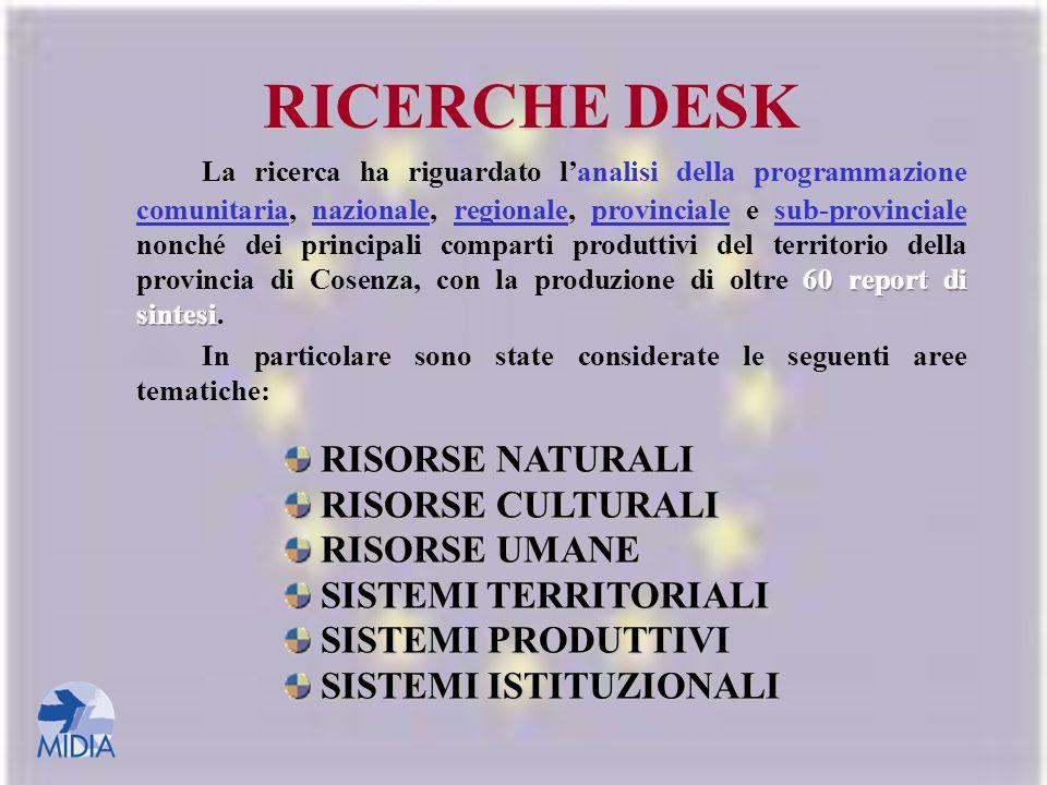 RICERCHE DESK