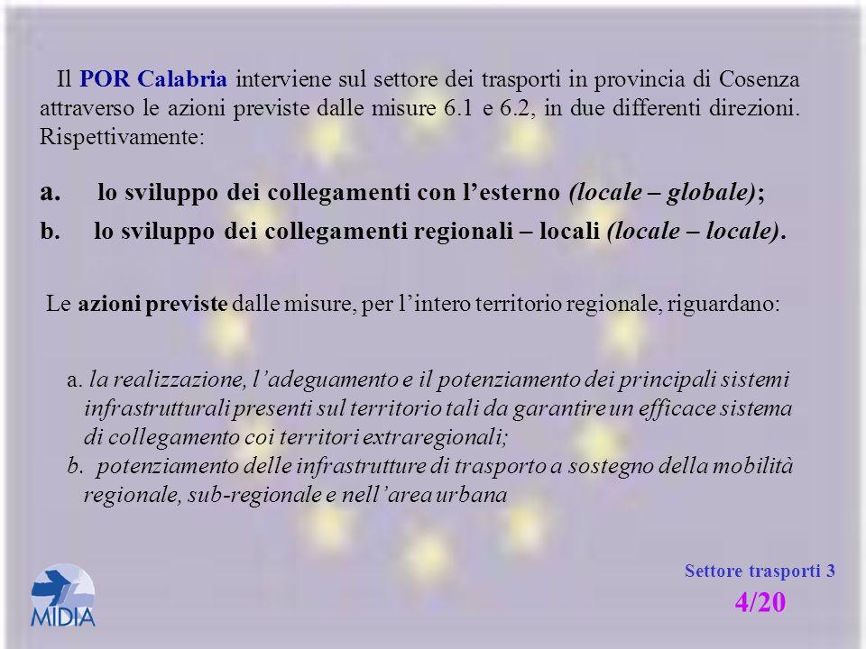 a. lo sviluppo dei collegamenti con l'esterno (locale – globale);