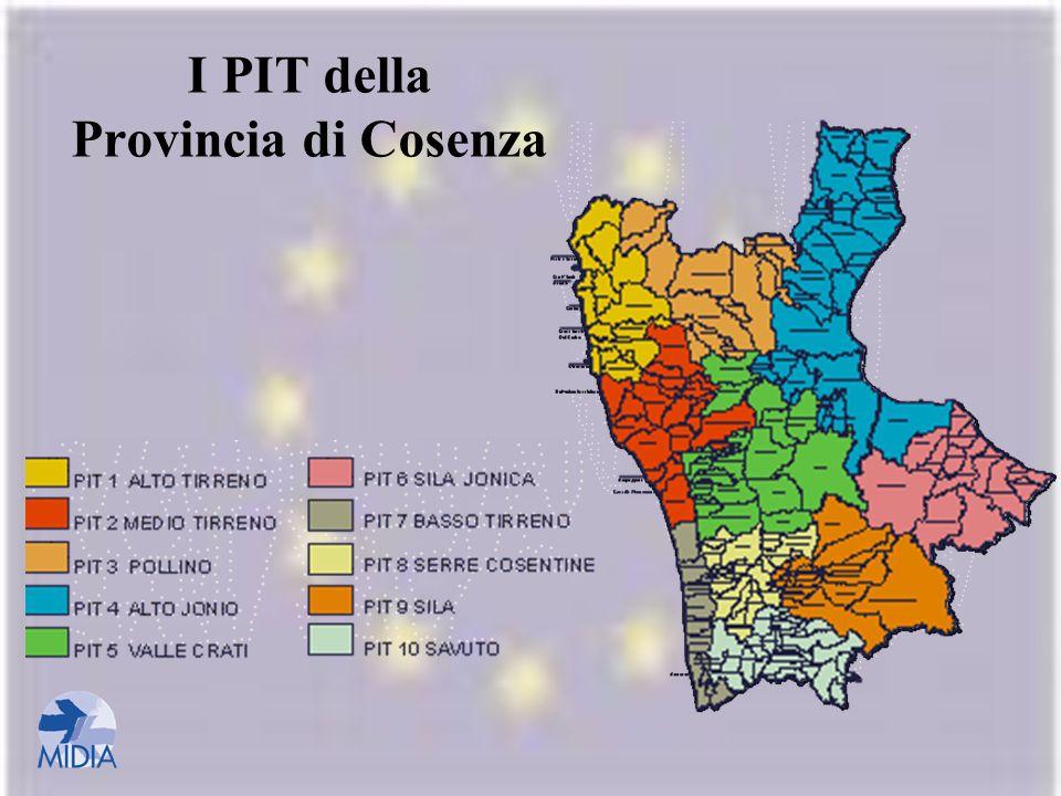 I PIT della Provincia di Cosenza