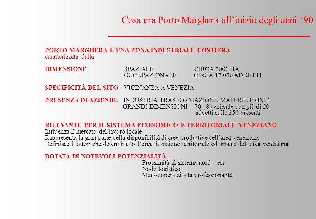 Cosa era Porto Marghera all'inizio degli anni '90