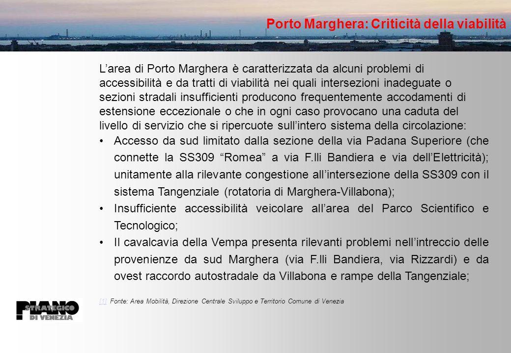 Porto Marghera: Criticità della viabilità