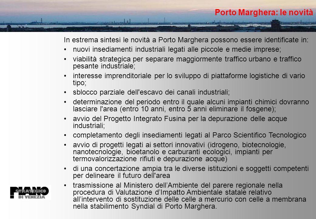 Porto Marghera: le novità