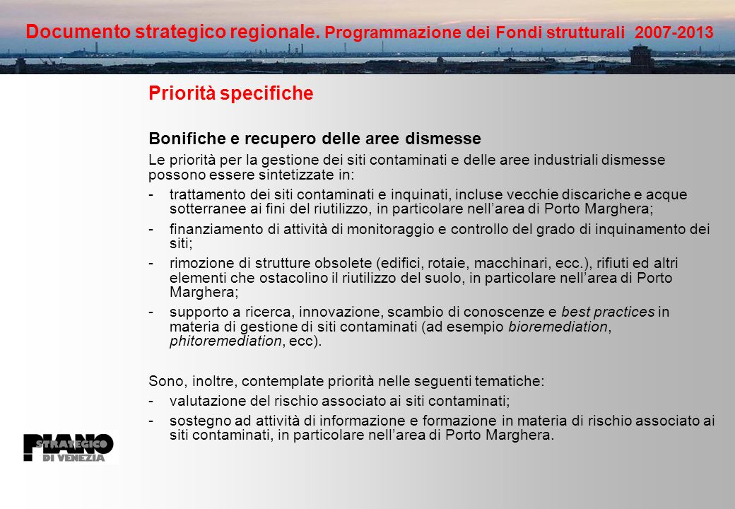 Documento strategico regionale