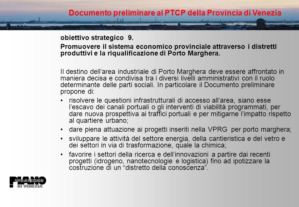 Documento preliminare al PTCP della Provincia di Venezia