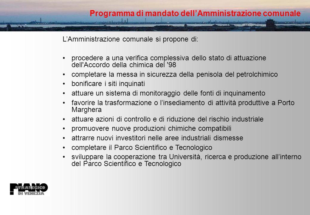 Programma di mandato dell'Amministrazione comunale