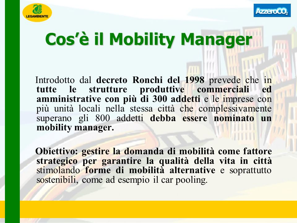 Cos'è il Mobility Manager