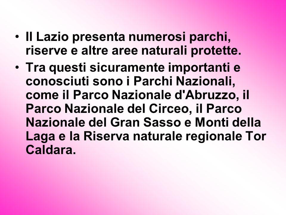 Il Lazio presenta numerosi parchi, riserve e altre aree naturali protette.