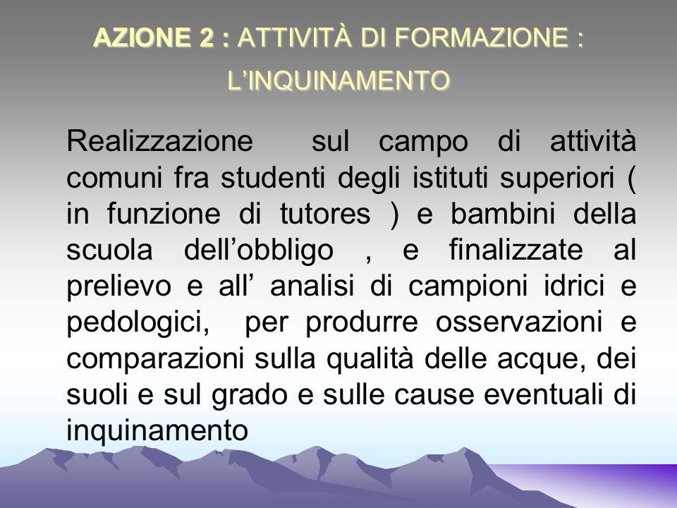 AZIONE 2 : ATTIVITÀ DI FORMAZIONE : L'INQUINAMENTO