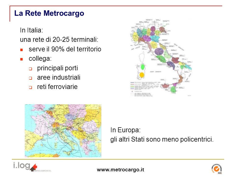 La Rete Metrocargo In Italia: una rete di 20-25 terminali:
