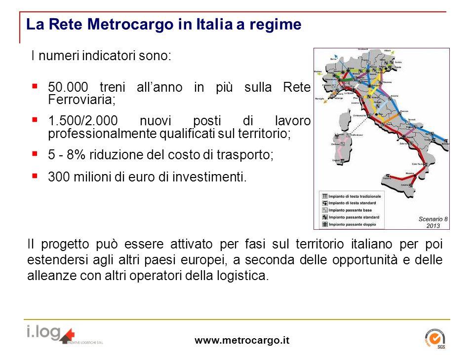La Rete Metrocargo in Italia a regime