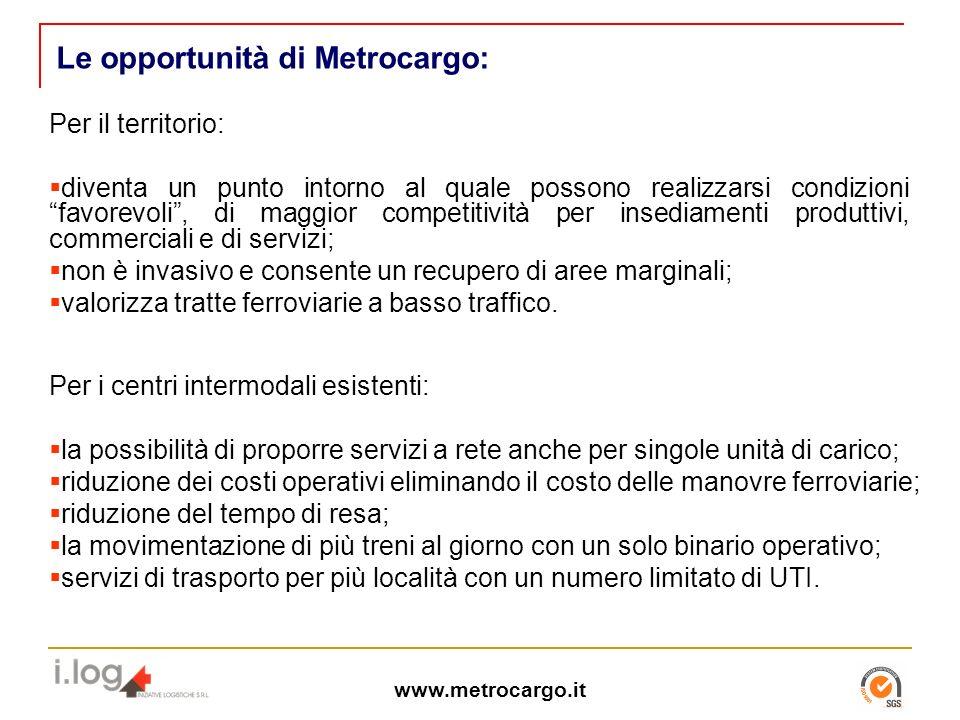 Le opportunità di Metrocargo: