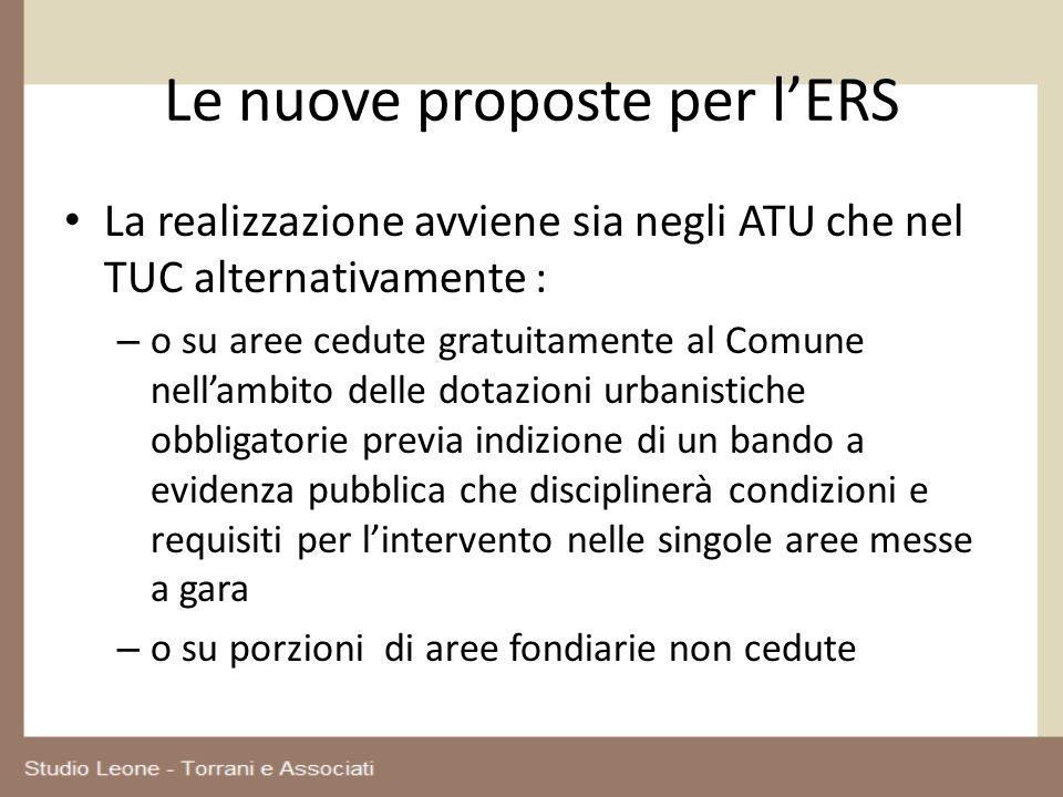Le nuove proposte per l'ERS