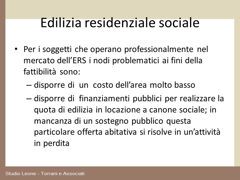 Edilizia residenziale sociale