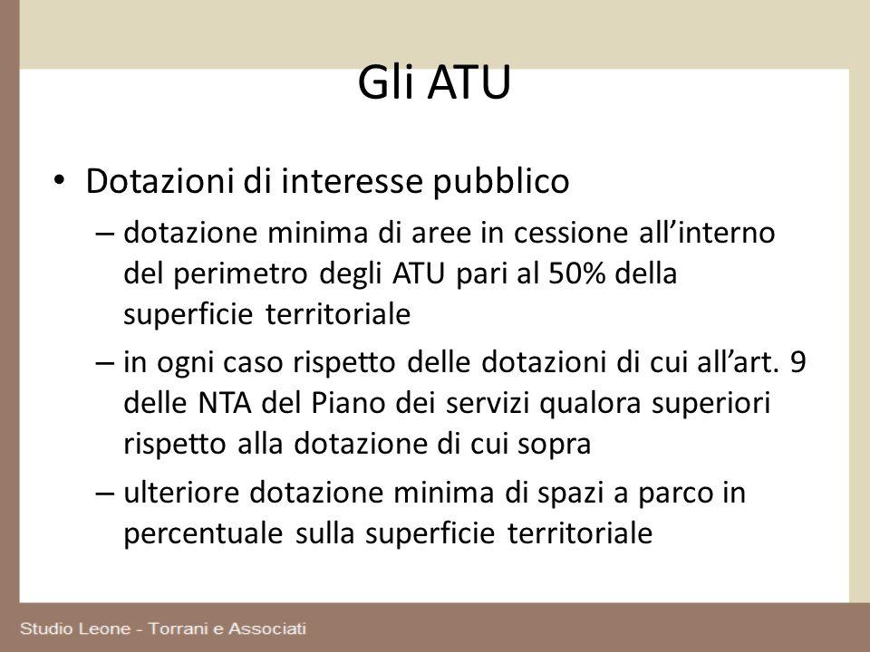 Gli ATU Dotazioni di interesse pubblico