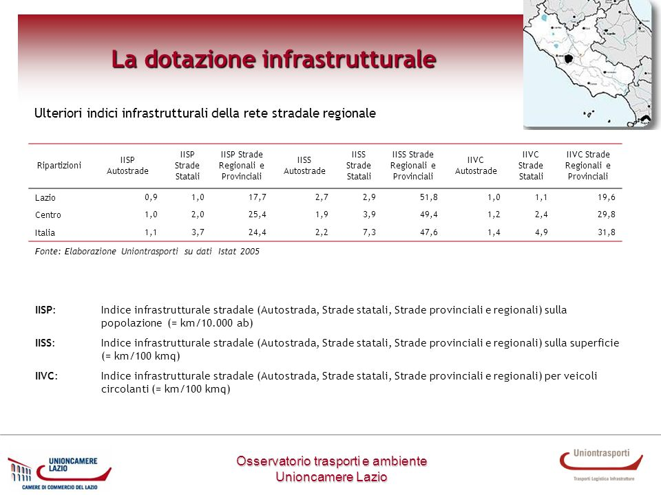 La dotazione infrastrutturale