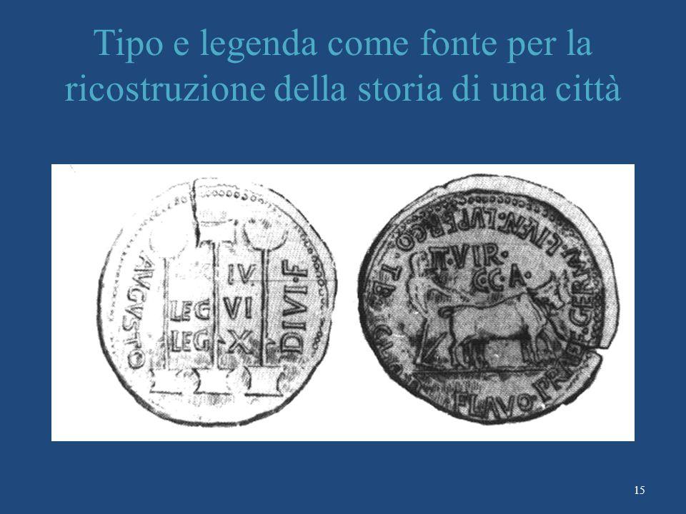 Tipo e legenda come fonte per la ricostruzione della storia di una città
