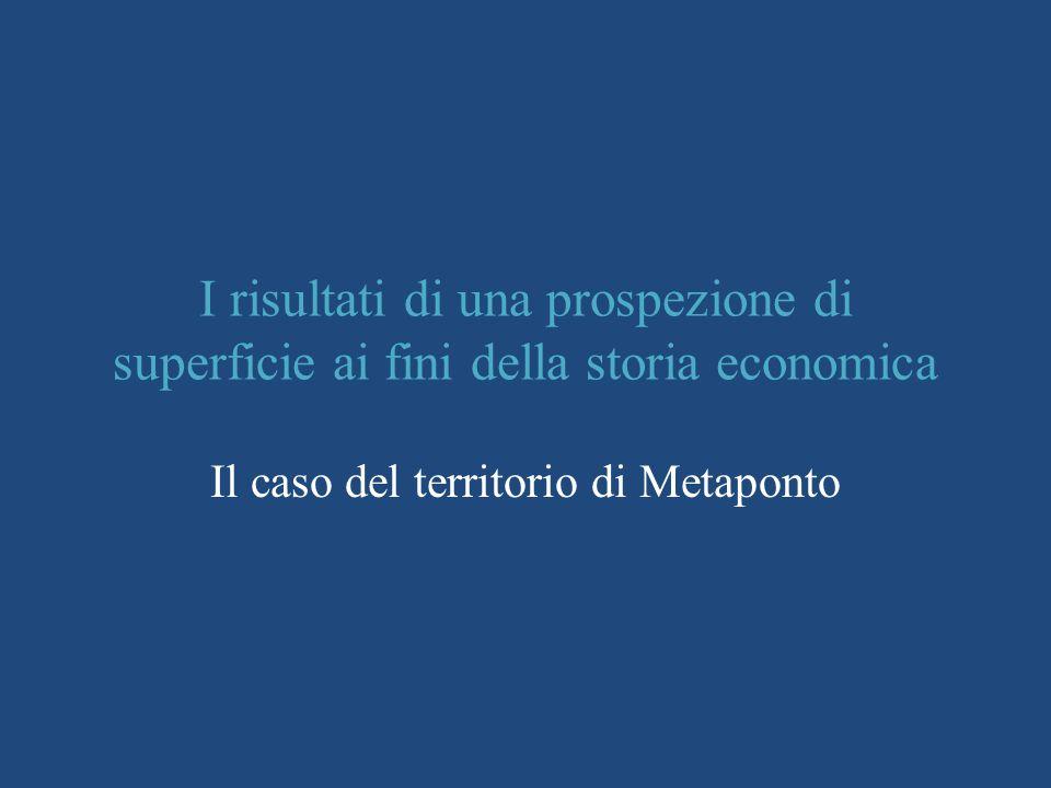 Il caso del territorio di Metaponto