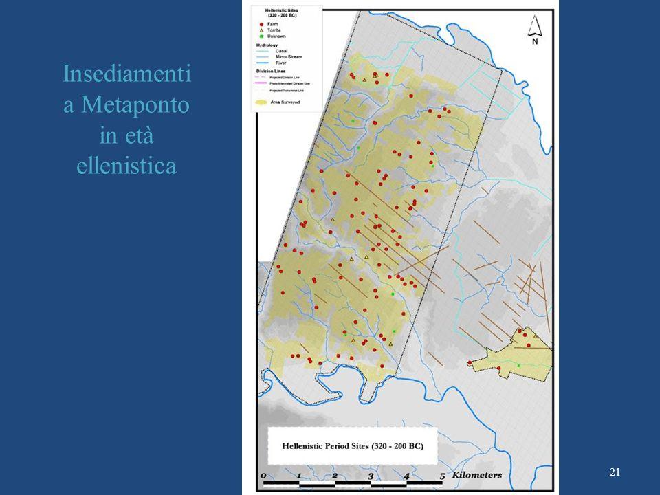 Insediamenti a Metaponto in età ellenistica