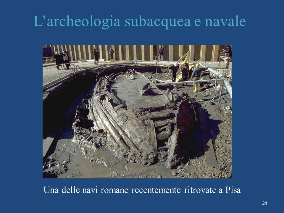 L'archeologia subacquea e navale