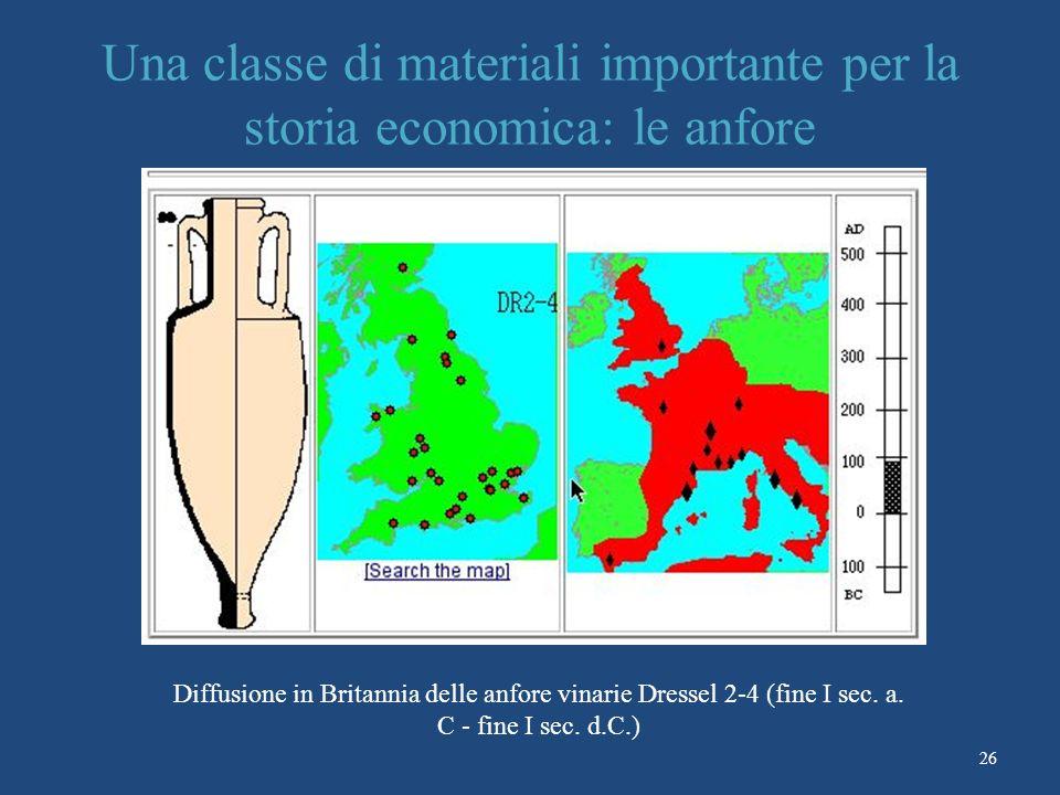 Una classe di materiali importante per la storia economica: le anfore