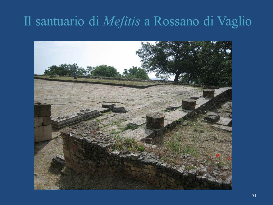 Il santuario di Mefitis a Rossano di Vaglio