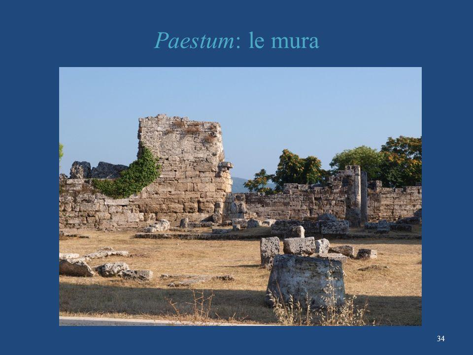 Paestum: le mura