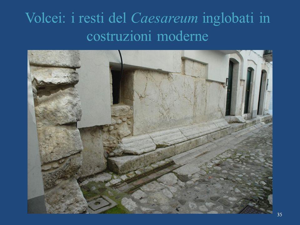Volcei: i resti del Caesareum inglobati in costruzioni moderne