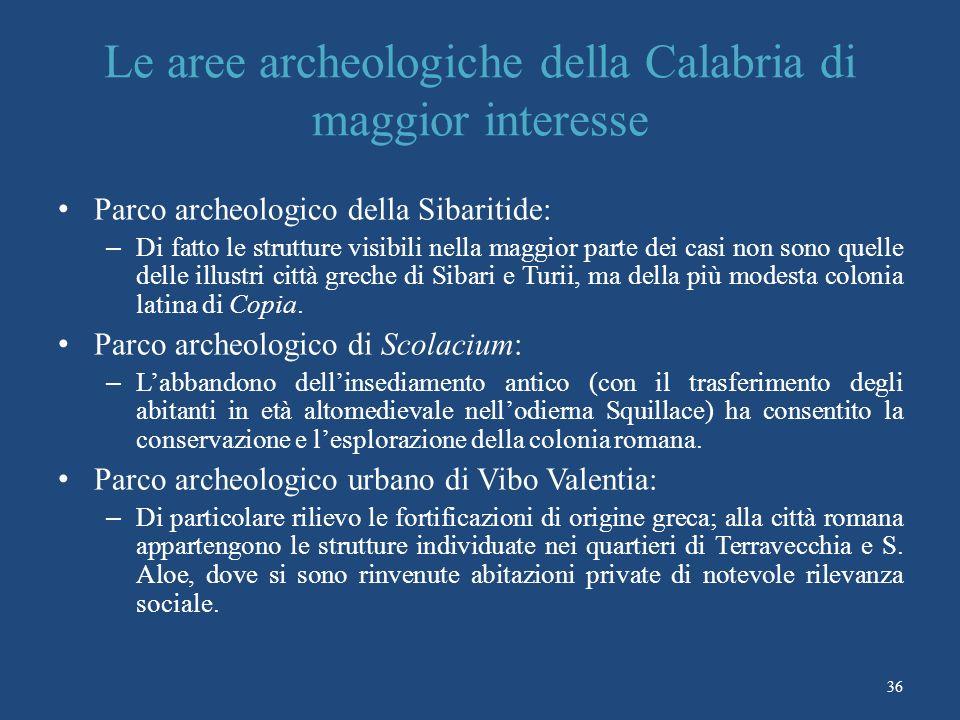 Le aree archeologiche della Calabria di maggior interesse