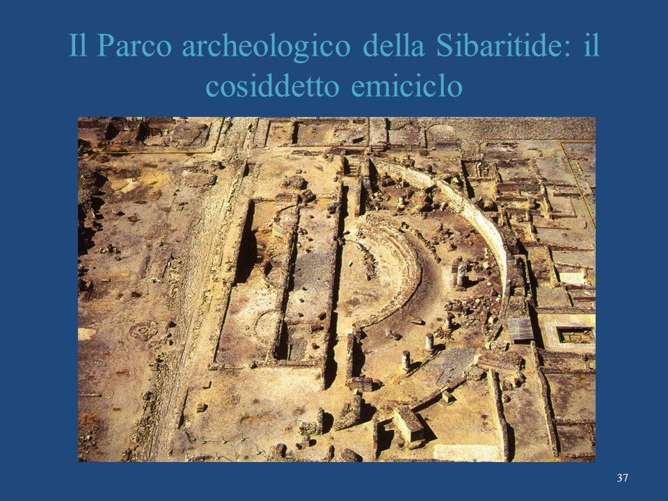 Il Parco archeologico della Sibaritide: il cosiddetto emiciclo